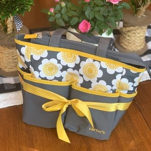 Grey and yellow Carters small baby bottle bag!🖤💛 for sale